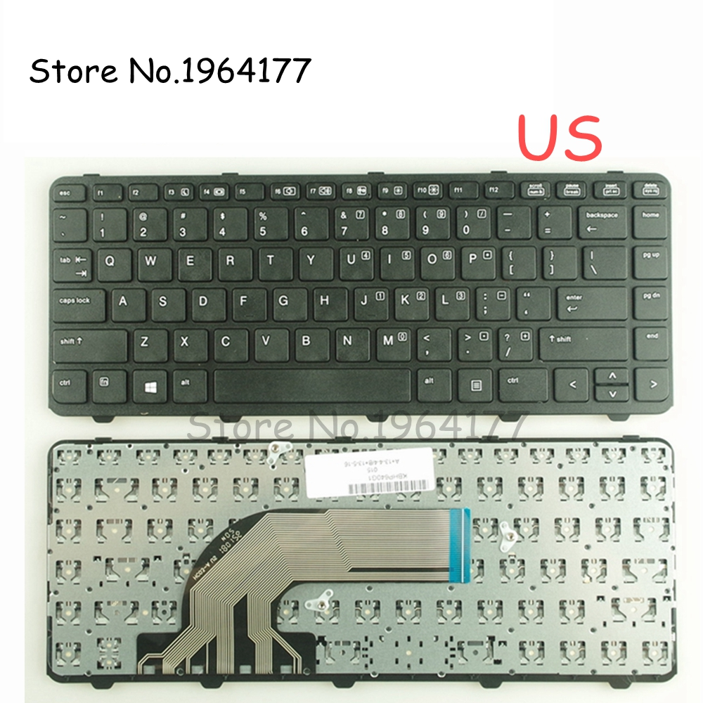 GZEELE US Laptop Keyboard For HP For ProBook 430 G2 440 G0 440 G1 440 G2 445 G1 G2 640 G1 645 With Frame English Black New