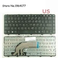 Teclado Do Portátil DOS EUA para o HP para ProBook GZEELE 430 G2 440 G0 440 G1 440 G2 445 G1 G2 640 g1 645 com quadro Inglês Preto Novo