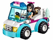 BELA 10534 Friends Series Vet Ambulance Building Blocks Classic For Girl Kids Model Toys Minifigures Marvel Compatible Legoe