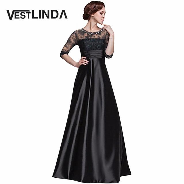 1360fd22e6b Elegant Little Black Women Maxi Long Dress Sexy Robe Femme Tunic Floral  Lace Night Evening Party