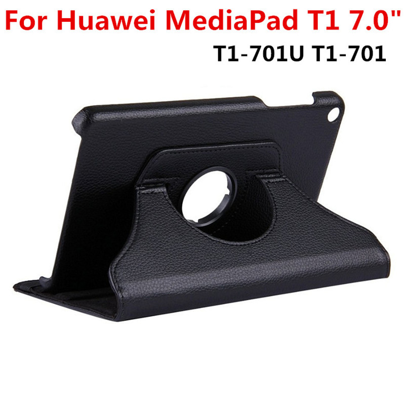 For Huawei MediaPad T1 7.0 inch T1-701U T1-701 701 701U Tablet Case 360 Rotating Bracket Flip Stand Leather Cover for huawei mediapad m3 lite 8 0 inch cpn al00 m3lite tablet case 360 rotating bracket flip stand leather cover