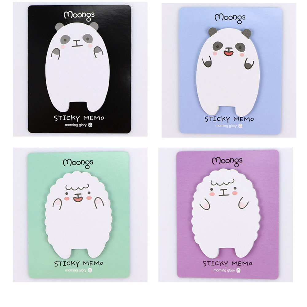 Little Lamb And Bear Creative Sticky Notes Memo Pad Paper Sticker  Gift Cartoon Cute Wall Stickers Fridge Sticker N Times