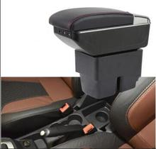 цена на Center Center Console Storage Box Armrest Box Suitable for Ford Refit for 09-18 Fiesta Arm Rest Rotatable Special Accessories