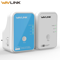 Wavlink 1Pair Wi Fi Power line Ethernet Extender Kit Adapter AV500 Mini PLC adapter homeplug Network Powerline Adapters 300Mbps