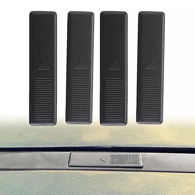 4Pcs Seal Cover Autos Car Roof Buckle Cover Lightweight Plastic Portable Easy Installation Compact Size For  M6 4