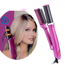 hot sale professional 2 in 1 automatic rotating iron straightening and curling tool