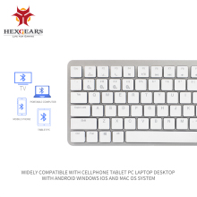 HEXGEARS X1 Bluetooth RGB Backlight  Gaming Keyboard Kailh CHOC Switch Mechanical Ultra-Thin Portable Wireless
