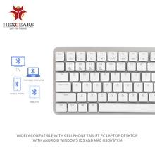 HEXGEARS X1 Bluetooth RGB Backlight Gaming Keyboard Kailh CHOC Switch Mechanical Keyboard Ultra-Thin Portable Wireless Keyboard