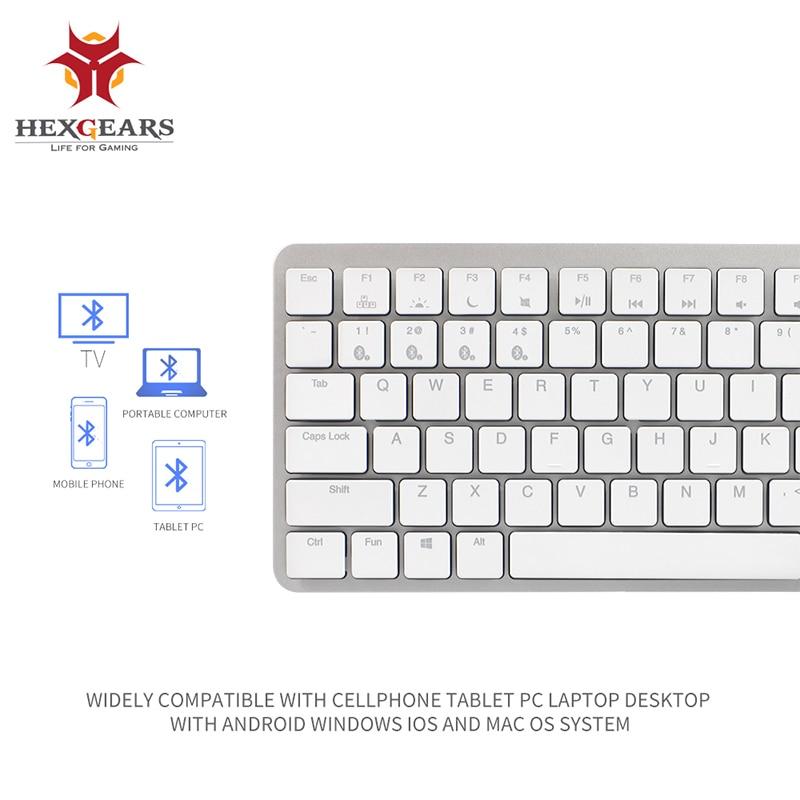 HEXGEARS X1 Bluetooth RGB Interruptor Kailh CHOC Teclado Mecânico Teclado Para Jogos Backlight Teclado Sem Fio Portátil Ultra-Fino