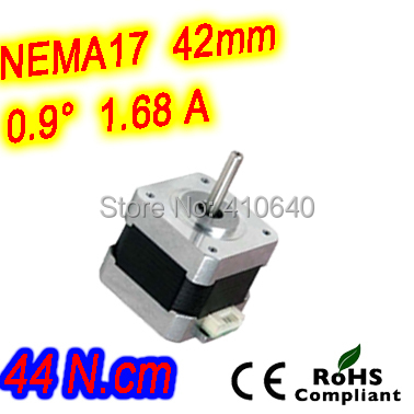 цена на 12 pieces per lot step motor 17HM19-1684S L 48 mm Nema17 with 0.9 deg 1.68 A 44 N.cm and bipolar 4 lead wires