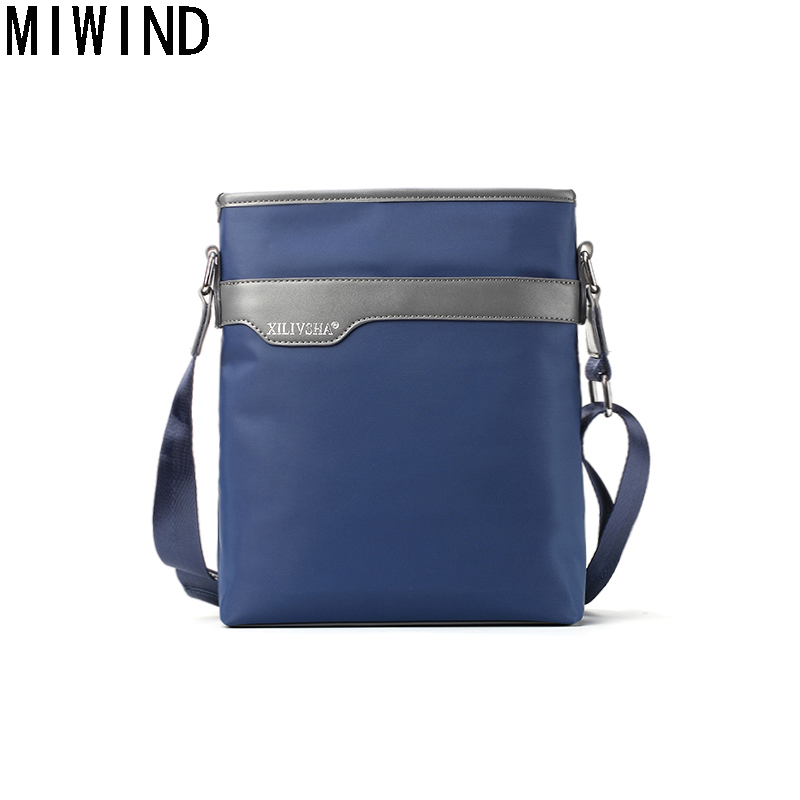 MIWIND fashion Waterproof Brand men messenger bags high quality oxford casual messenger bag business men's travel bags TRP1204 new 2017 sping waterproof male casual oxford fabric commercial messenger bags high quality brand design cross body bags for men