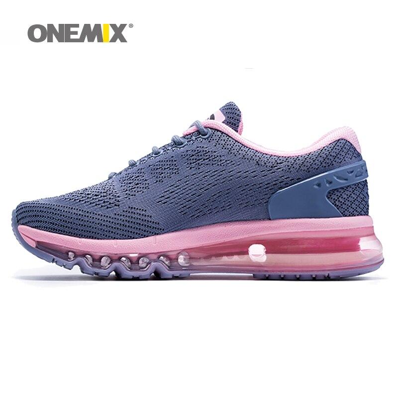 Onemix femmes chaussures de course rose baskets athlétiques femme Zapatillas Deportivas chaussures de sport en plein air chaussures de marche Design Unique