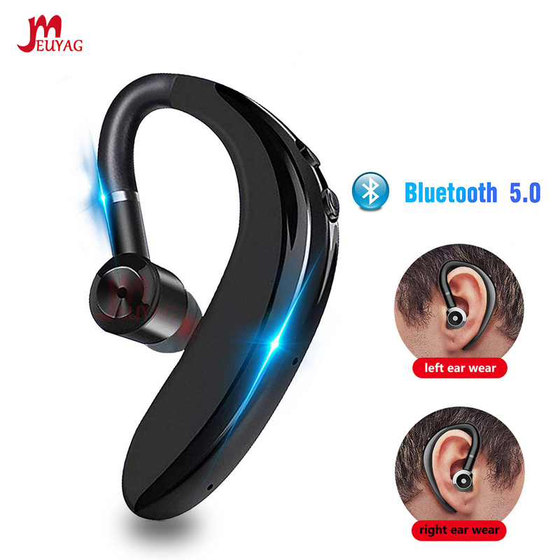 MEUYAG Newest Bluetooth 5.0 Wireless Earphone Stereo Handsfree Call Business Headset With Mic Earbud Earphone For IPhone Samsung