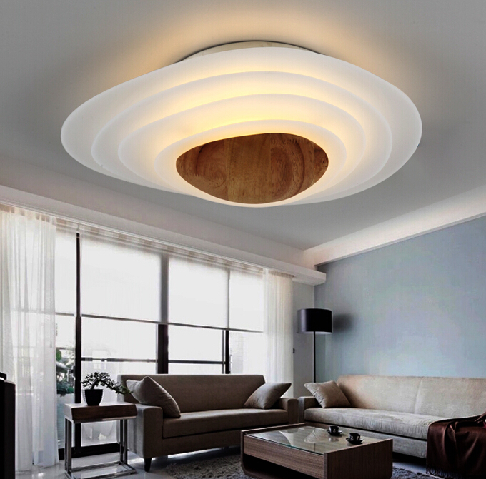 Modern Simple Circular LED Ceiling Lamp Personality Fashion Originality Bedroom Living Room Restaurant Ceiling Lamp Free Shiping