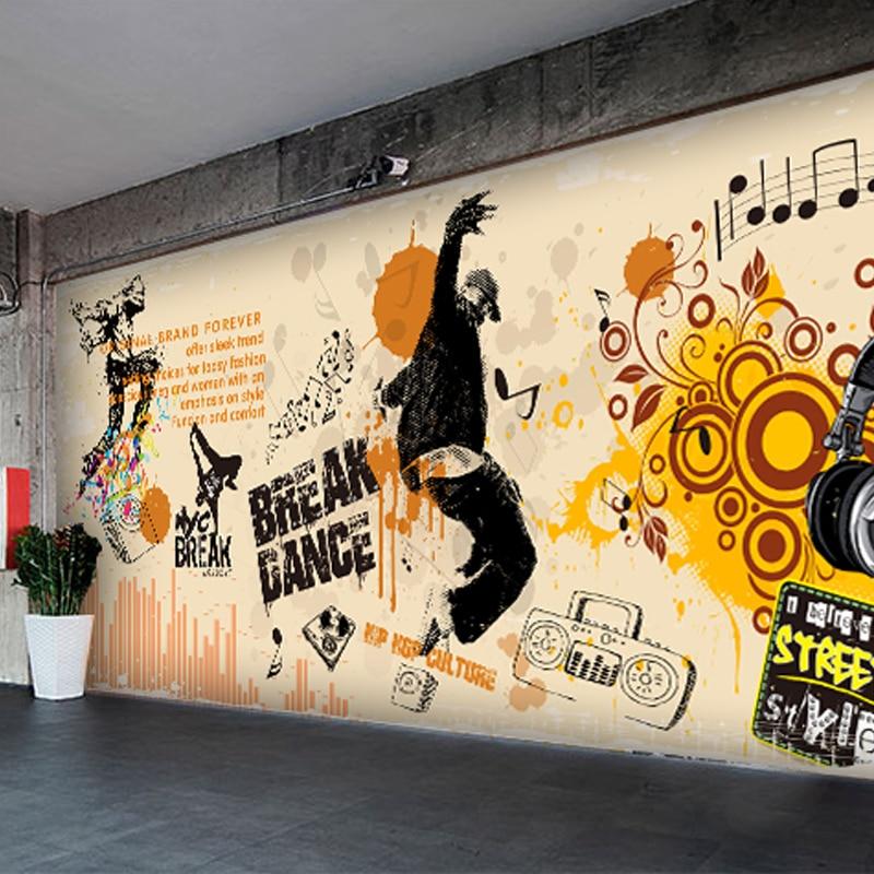 custom wall mural Modern graffiti kindergarten dance studio clothing