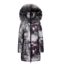 цена Sisjuly Winter Casual Women Parka Fur Cap Plus Size Coat Slim Print Long Outwears Gray 2019 Warm Female High Street Overcoats онлайн в 2017 году