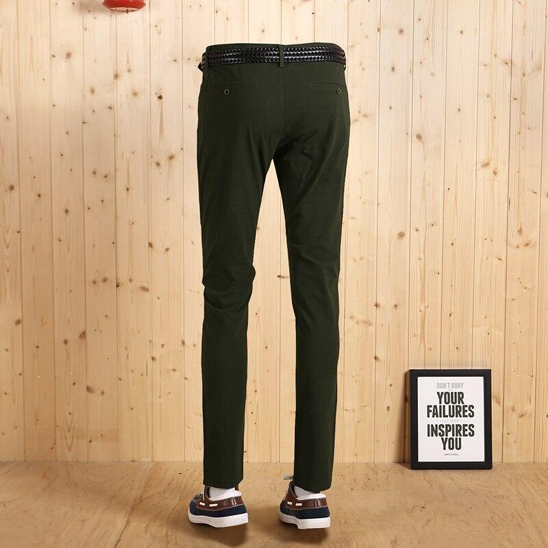 Super Pantalon Qualité Mince Hommes D'affaires Long Automne Nouveau Haute Green Casual Mode Chaud Jeune Vert Hiver De Loisirs Homme 2017 vwxqnTd
