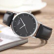 XIAOYA Simple Classic Quartz Watch Men Relogio Masculino Fashion Ultra-thin Mens Wrist Watch Leather Strap Erkek Kol Saati Clock цена и фото