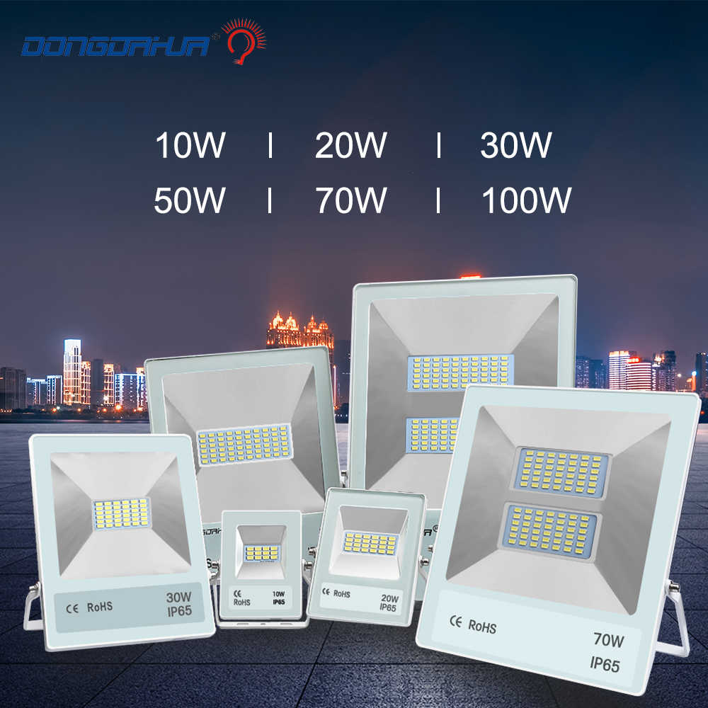 Прожектор основной мощностью 10 Вт, 20 Вт, 30 Вт, 50 Вт 70 Вт 100 Вт светодиодные лампы Наружное охранное освещение ip65 AC230V плащ прожектор led лампа для сада