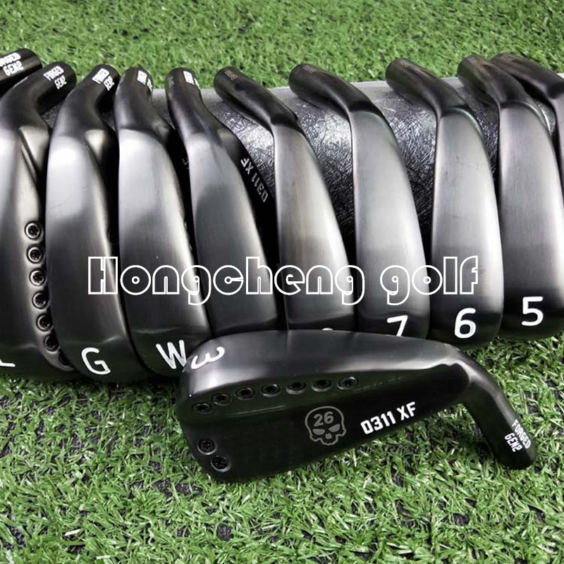 Hongcheng golf culbs black skull 0311XF GEN2 irons golf forged iron golf club 3-9WG a set of 9 R / S head cover free shipping.