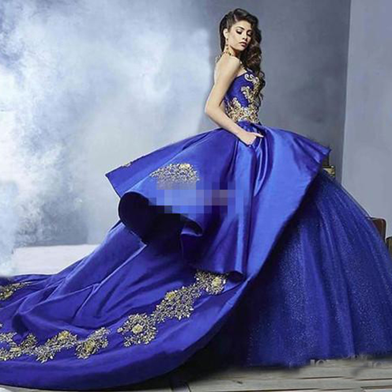 Luxury Gold Embroidery Quinceanera Dresses 2019 Masquerade ...