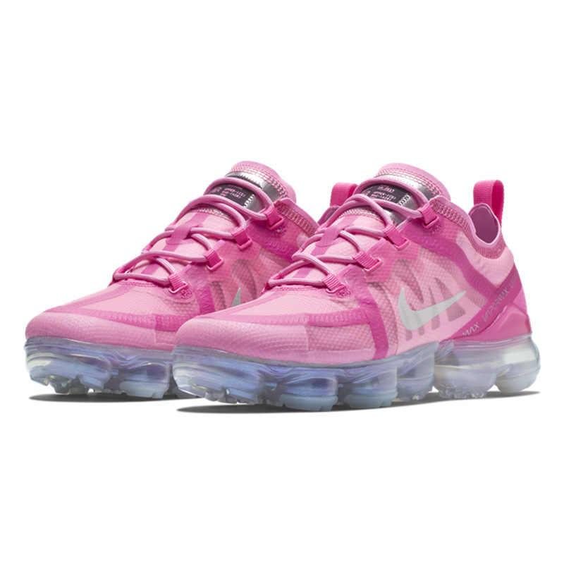 เดิมแท้ NIKE AIR VAPORMAX รองเท้าวิ่งสตรีกีฬากลางแจ้งรองเท้าผ้าใบ Shock Absorbing 2019 ใหม่มาถึง AR6632-600