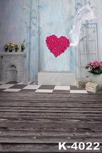 5x7ft Adult Wedding Photo Backdrop Digital Indoor Heart Shape Rose Flower Romantic Propose Marriage photography Background Props