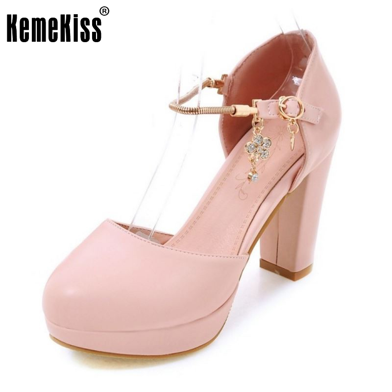 KemeKiss Size 32-43 Women Shoes Women High Heeled Pumps Platform Round Toe Heels Shoes Sexy Lady Casual Fashion Zapatos Mujer 2017 shoes women med heels tassel slip on women pumps solid round toe high quality loafers preppy style lady casual shoes 17