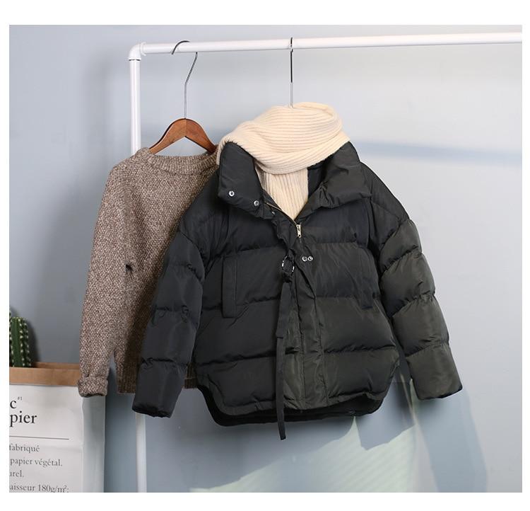 Coton Mko537 2017 Hiver souris Manteaux Femme Solide Longues Veste Vert Chauve Noir Oversize Épais Manches Foncé Nouveau À ATAqZ