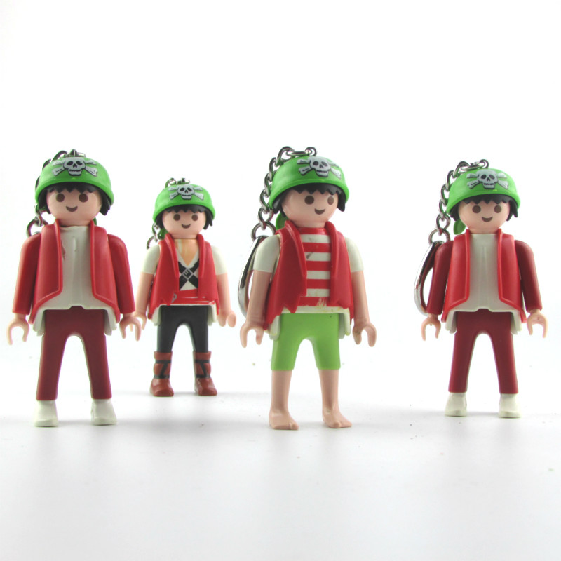 1 pc Random Red Playmobil Keychains German Youth Casual Style Action Figures Dolls Gift Toys for Children Limited Edition