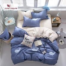 SlowDream Bedspread Whale Bedding Set Duvet Cover Set 3/4pcs Bed Linen Set Flat Sheet Single Nordic Bedclothes Home Textiles Set