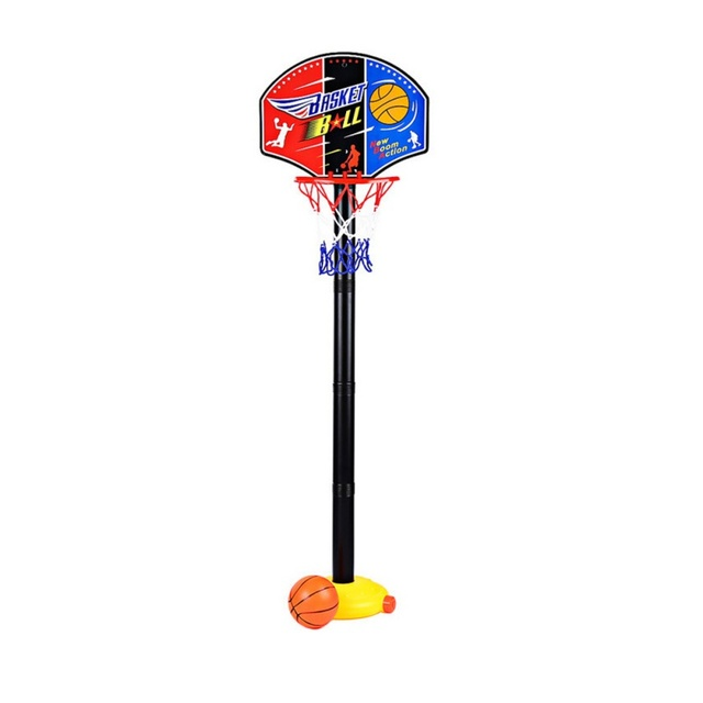 Bambini Sport Basket Supporto Regolabile Outdoor Sport Indoor Treno Basketball Hoop Toy Set Stand Palla Tabellone Netto