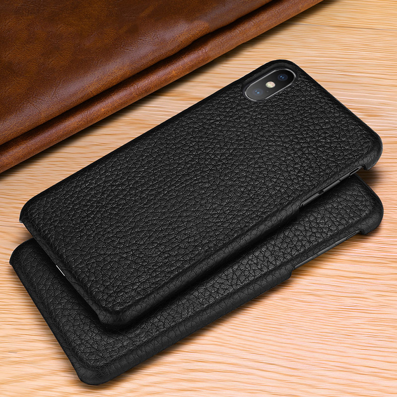 Image 3 - First layer cowhide Business Genuine Leather case cover For Iphone XS MAX XS XR X Matte Phone CaseFitted Cases