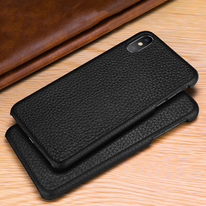 Image 3 - שכבה הראשונה עור פרה אמיתי עסקי עור מקרה כיסוי עבור Iphone XS מקס XS XR X מט טלפון מקרה