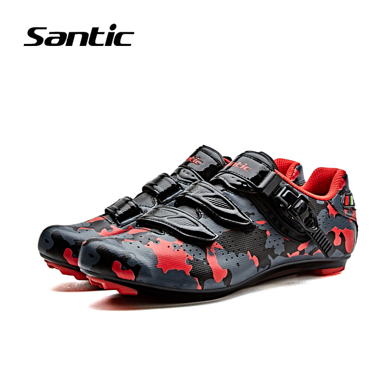Santic 2018 Pro Racing Team Cycling Shoes Men Nylon Breathable Road Bike Shoes Sapatilha Ciclismo Sport Bicycle Shoes Sneakers santic men s cycling hooded jerseys rainproof waterproof bicycle bike rain coat raincoat with removable hat for outdoor riding