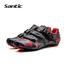Santic Cycling Shoes Men Nylon Road Bike Shoes Breathable Sapatilha Ciclismo Sport Shoes Sneakers For Bicycle