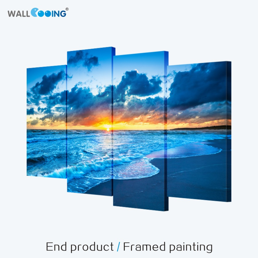 Finished product frame painting home creative combination decorative painting simple style seascape sofa background paintings