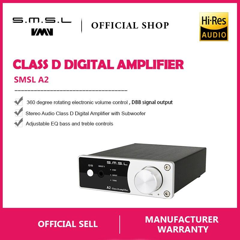 Nouveau SMSL A2 Audio Numérique Home Cinéma Amplificateur, soutien 2 Entrées RCA et 3.5mm Casque Jack D'entrée