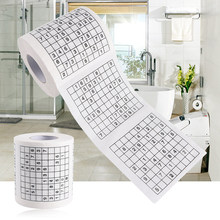 1 Roll 2 Ply Novelty Funny Number Sudoku Printed WC Bath Funny Toilet Paper Tissue Bathroom Supplies Jag Gift hot sale(China)