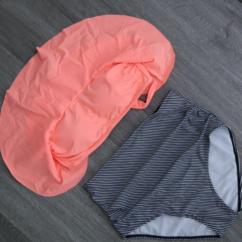 HTB1cL.ka7T2gK0jSZPcq6AKkpXas 2019 New Bikinis Women Swimsuit High Waist Bathing Suit Plus Size Swimwear Push Up Bikini Set Vintage Beach Wear Biquini