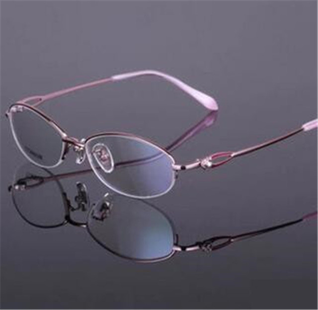 0f6b9065f8 100% Pure Titan Eyeglasses Red Pink Purple Top Quality Gafas Women Titanium Glasses  Frame