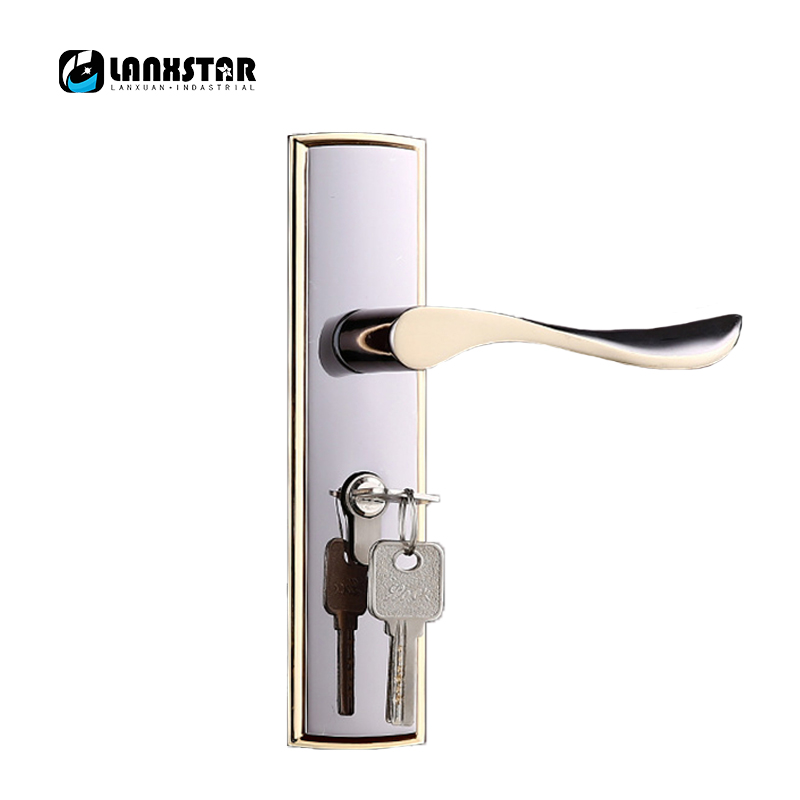 manufacturers supply top zinc alloy handle lock selected materials and durable quality silent lockset wood door locks Solid Wood Door Lock Zinc Alloy Handle Locks Home Mute Lockset Hardcover Housing Project Quality Handle-locks