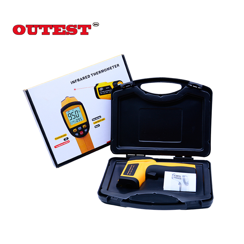 With Carry BOX Non-Contact Precise Digital IR Laser Infrared Pointer Thermometer GM900 -50C~950C hot for thermostat thermal camera offer precise non contact digital ir infrared thermometer 50 to 900 degree laser gun gm900
