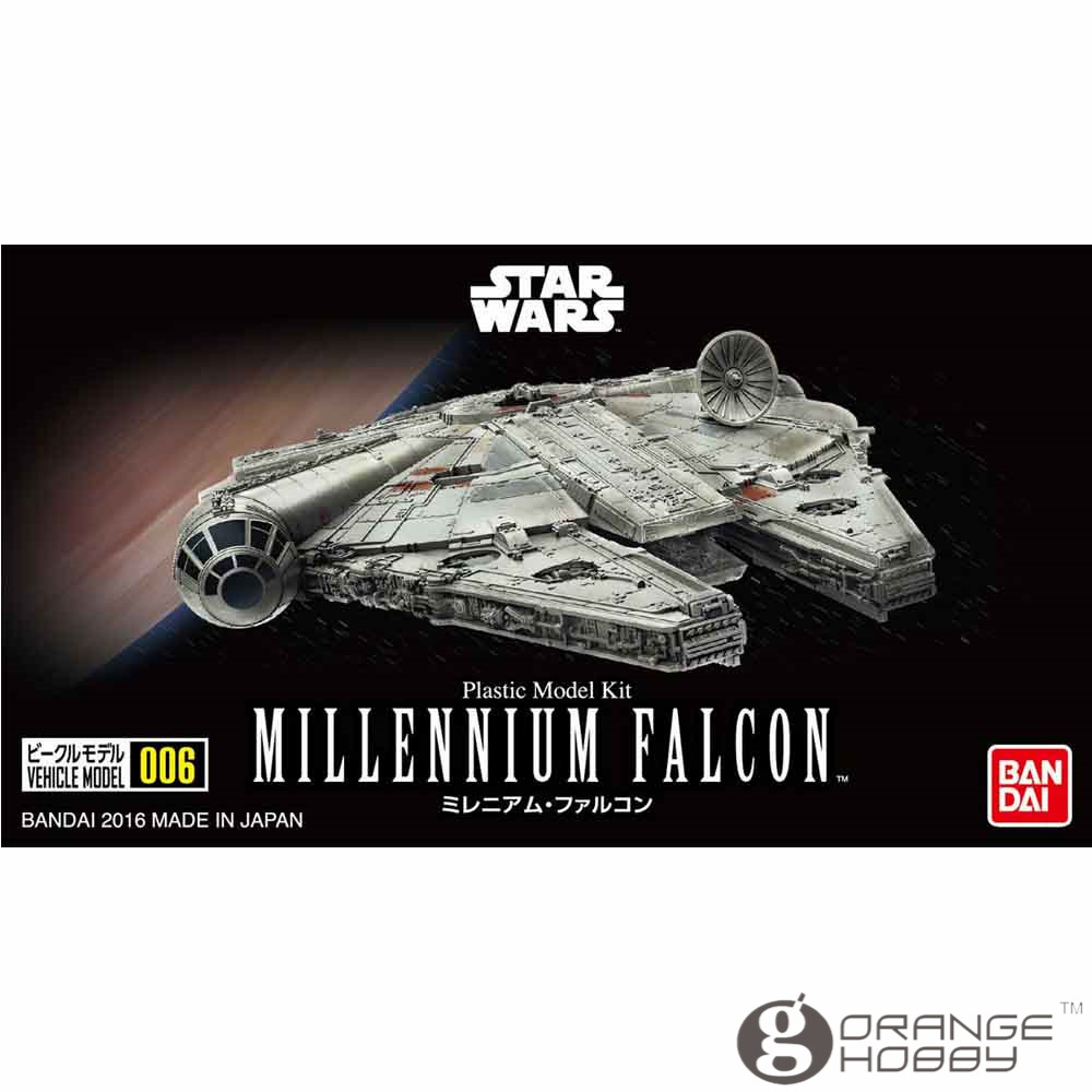 OHS Bandai Star War Vehicle Model 006 Millennium Falcon Assembly plastic Model Kits oh bandai star war vm 01 vehicle model mini x wing plastic model toys figure