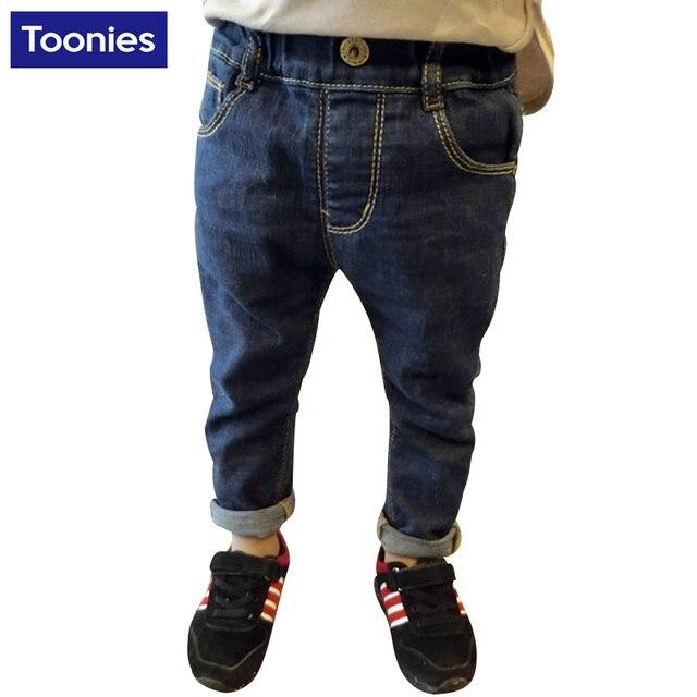 2017 High Quality Children Fashion Boys Pants Kids Trousers Boys Children's Denim Trousers Kids Dark Blue Designed Pants
