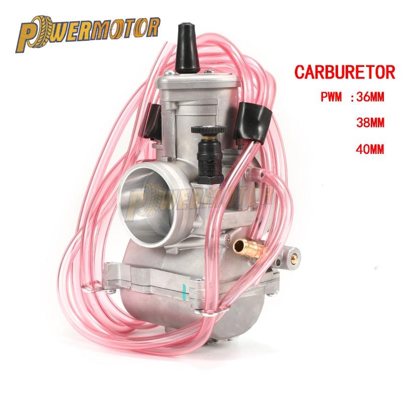 PowerMotor PWM 36 38 40mm Carburetor Carb Universal Shift Karts 2T Racing Motorcycle Scooter UTV ATV