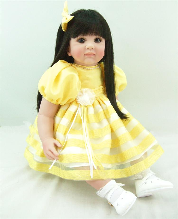 New 55cm lifelike silcone vinyl reborn baby dolls simulated doll princess toddler brinqu ...