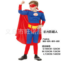 Superman muscle costume black spiderman batman superman halloween costumes for kids superhero capes cosplay carnival costume