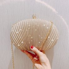 Evening Clutch Bag Women Wedding Shiny Handbags Bridal Pleated Purse Bags Chain Shoulder Bag xiyuan brand lady ethnic handmade gemstone diamond evening bag dinner clutch purse bridal clutch wedding chain shoulder hand bag
