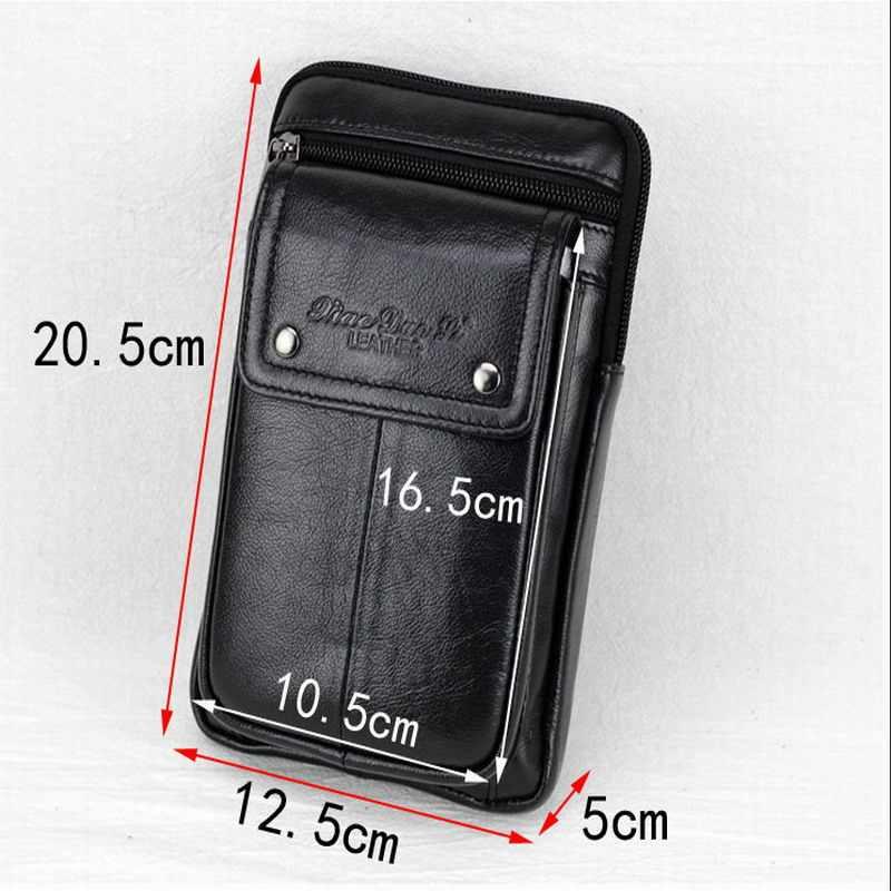 Genuine Estojo de Couro Clipe de Cinto Bolsa de Cintura Bolsa Tampa Do Caso para Aoson S7 + 7 polegada Tablets Android Tablet PC saco do telefone Sacos